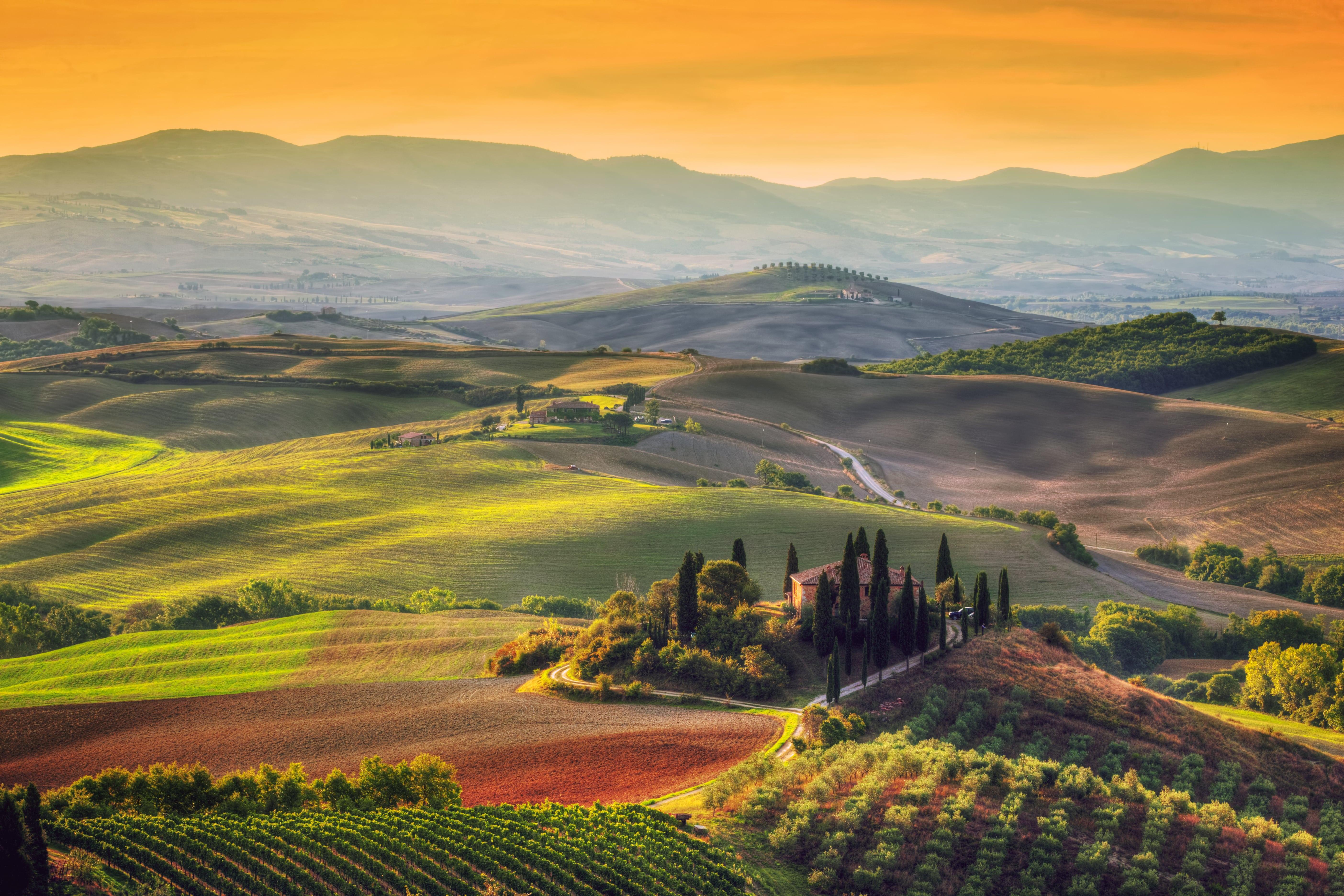 Sunrise in Tuscany Italy