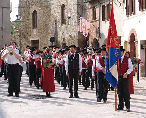 Annual Village Festival Asciano Tuscany