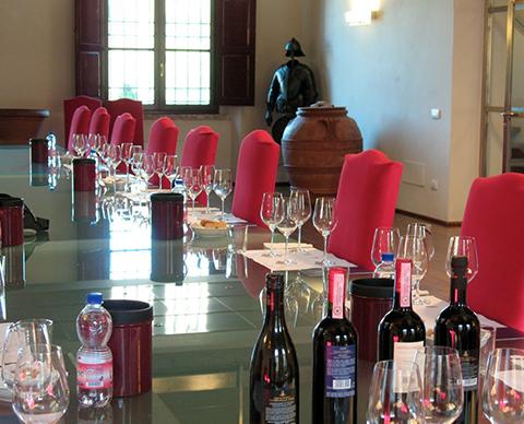 Wine Tasting Room at Ricasoli Vineyards