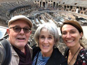 Man Women Touring Colosseum Rome, Italy