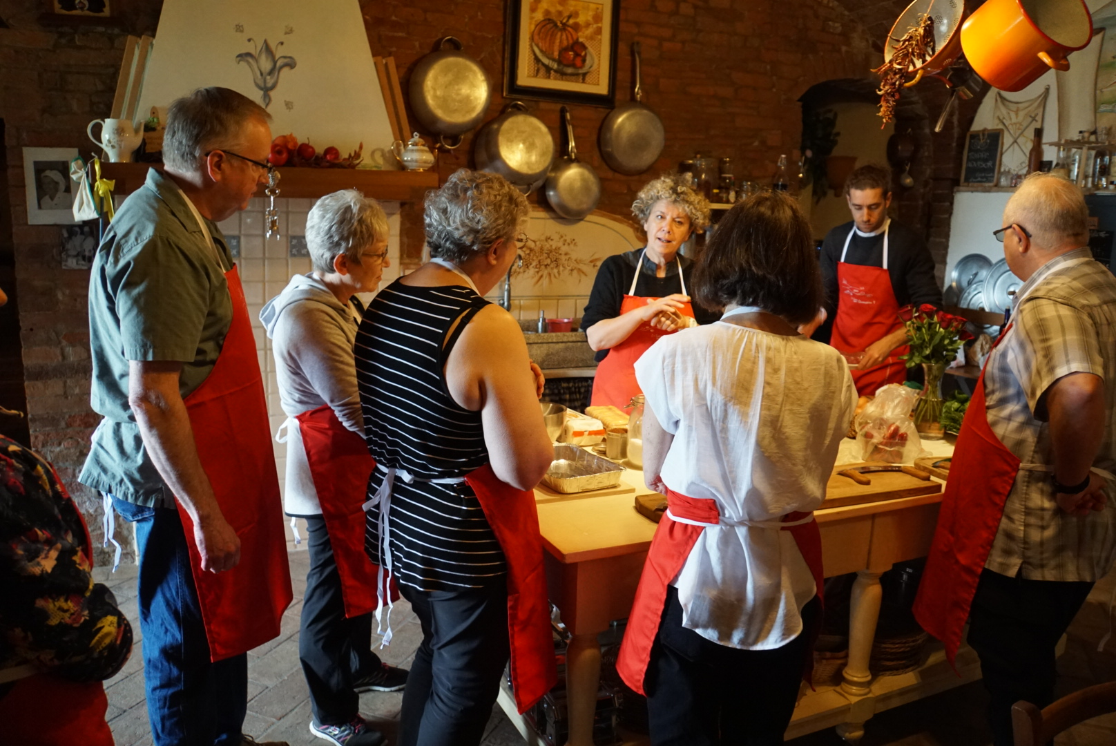 Tour Group Cooking School Tuscany