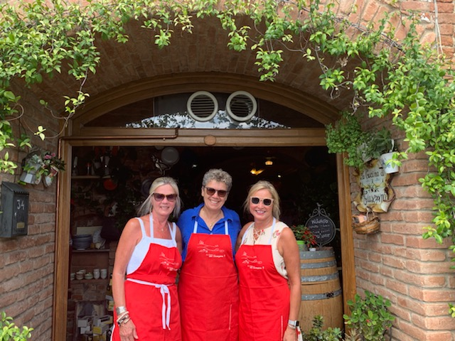Women Cooking School Tuscany Italy