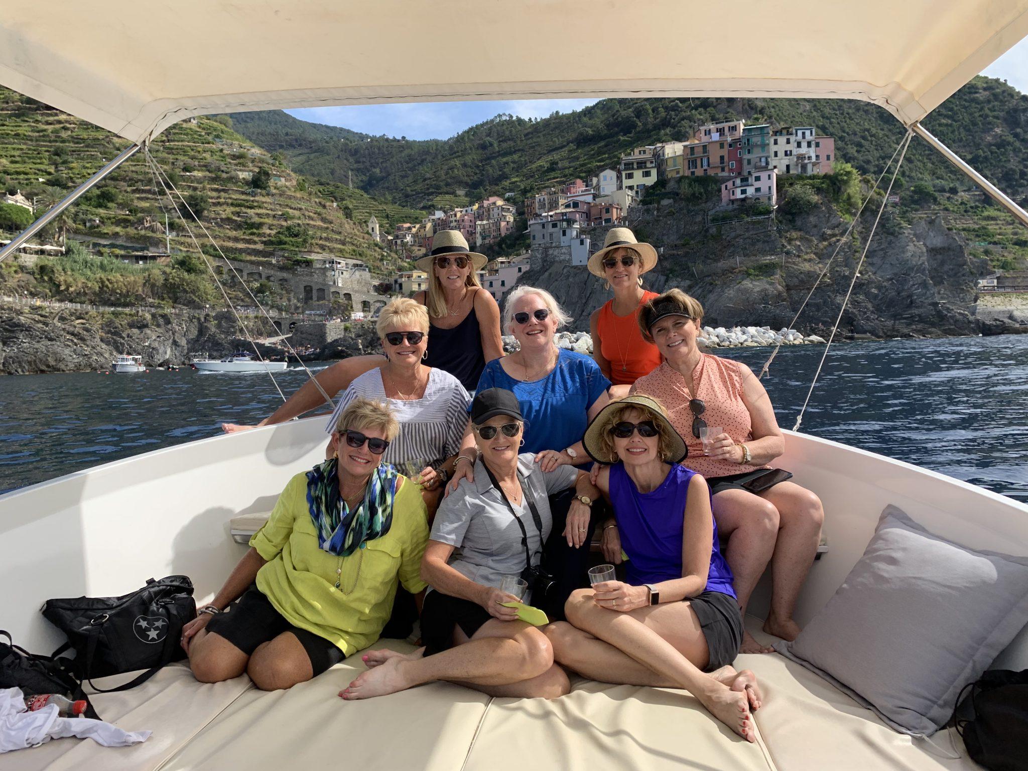 Women on a Boat Capri, Italy