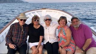 Men Women Tour Group Boat Capri Italy