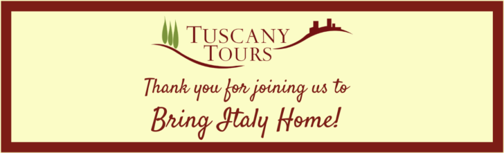 Thank you for joining us to Bring Italy Home!