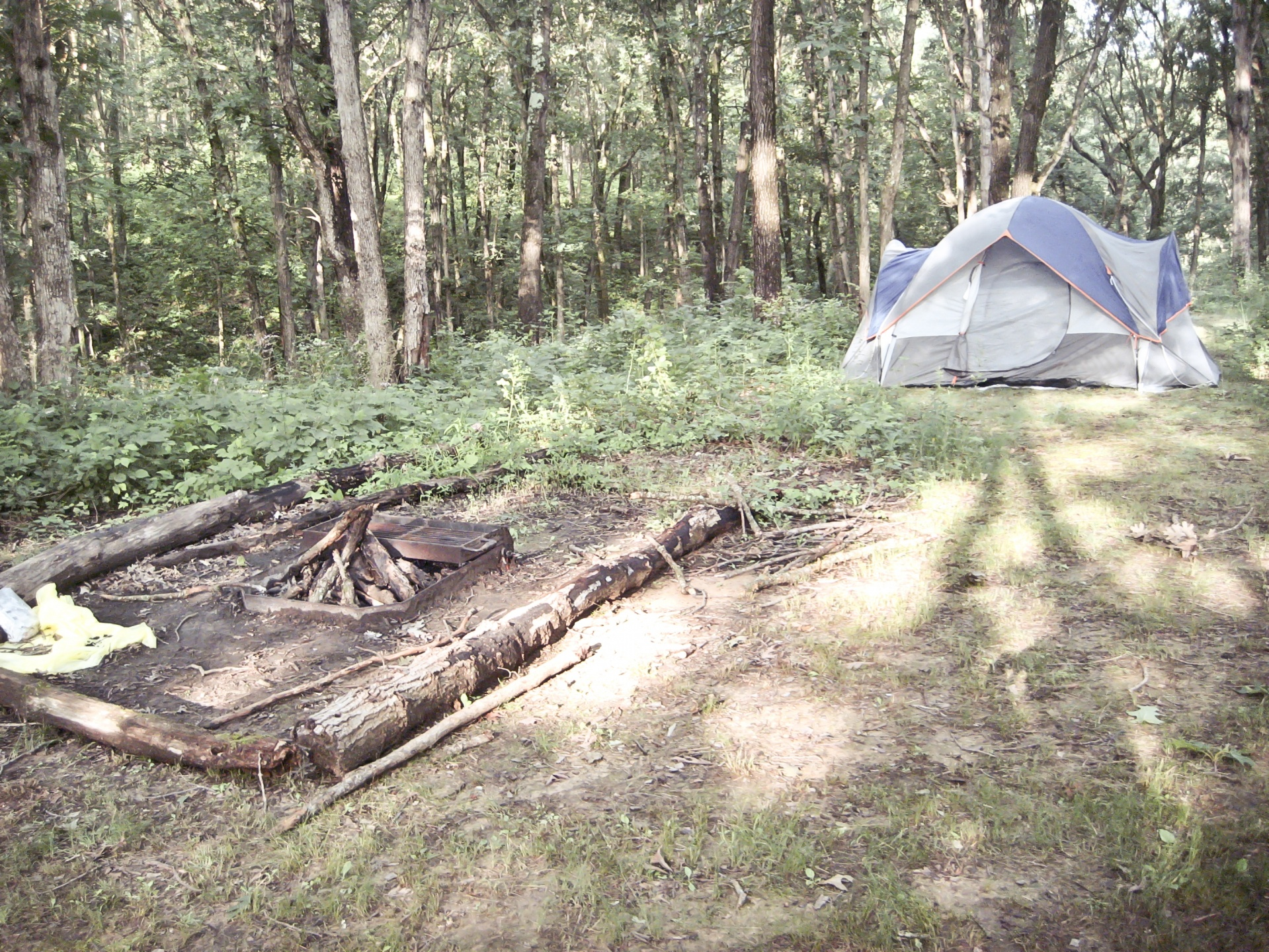 Typical campsite from my youth